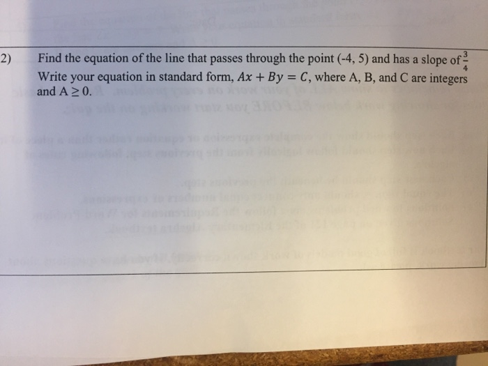 Solved Find The Equation Of The Line That Passes Through