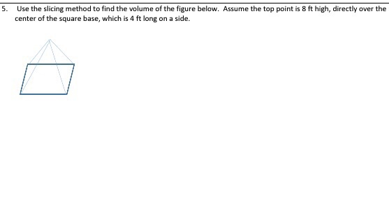 Use the slicing method to find the volume of the f chegg use the slicing method to find the volume of the figure below assume ccuart Gallery
