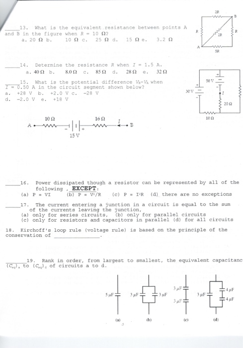 Based On Series Circuits Vt Summation To Equal R And