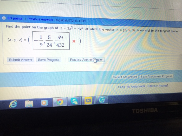 Multivariable calculus homework help