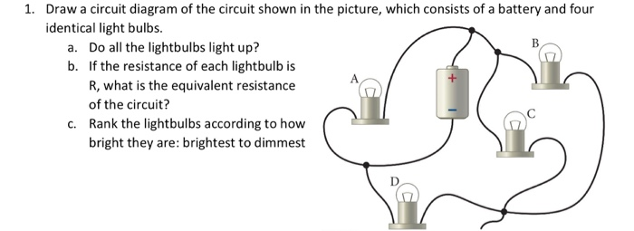 Solved: Draw A Circuit Diagram Of The Circuit Shown In The ...