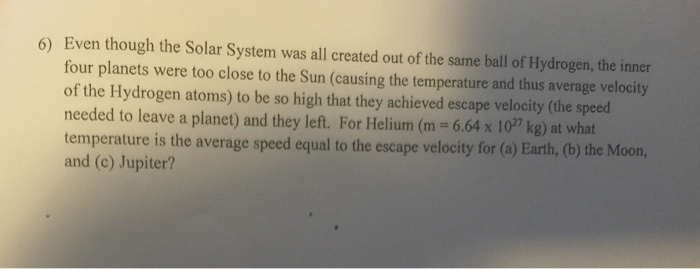 Homework help astronomy