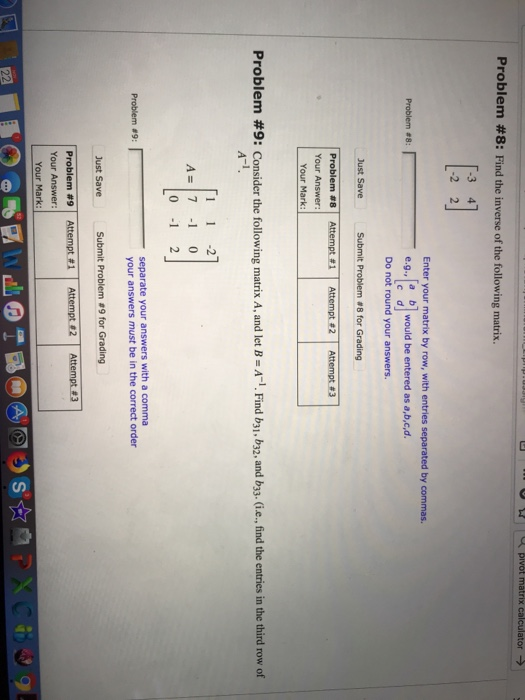 Statistics and probability archive november 22 2017 chegg pivot matrix calculator problem 8 find the inverse of the following fandeluxe Choice Image