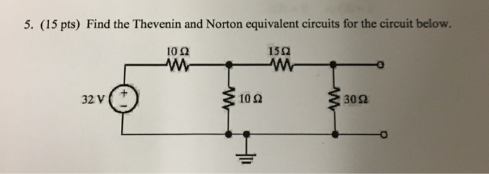 how to find the thevenin and norton