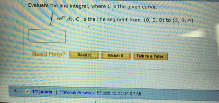 Advanced math archive october 17 2017 chegg evaluate the line integral where c is the given curve xe ds c fandeluxe Gallery