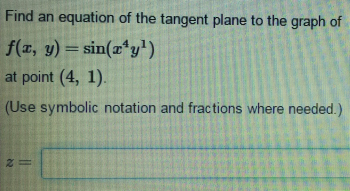 how to find tangent plane
