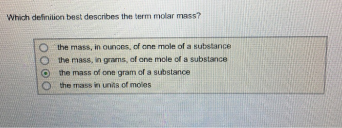 how to get number of moles from molar mass