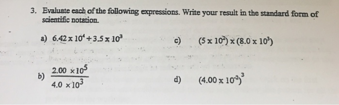 Solved 3 Evaluate Each Of The Following Expressions Wri
