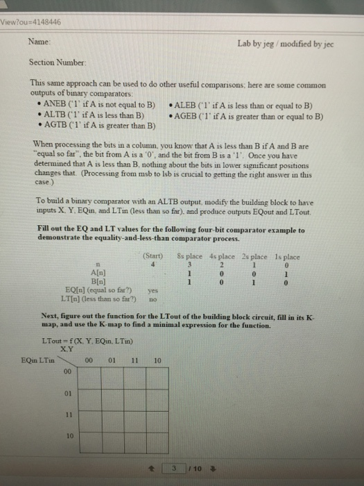 Comparator thesis