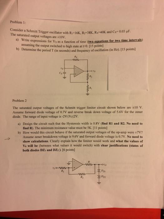 Typical Schmitt Trigger Circuit Diagram Tradeoficcom
