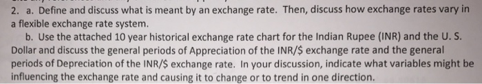 Question: Define and discuss what is meant by an exchange rate. Then, discuss how exchange rates vary in a ...