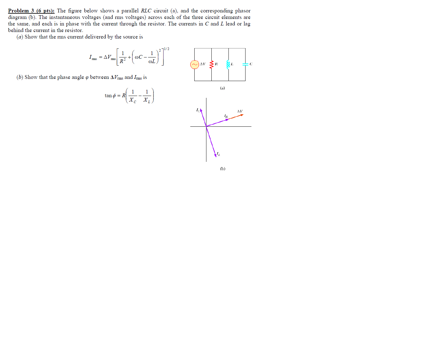 parallel rlc circuit phase diagram parallel free engine image for user manual