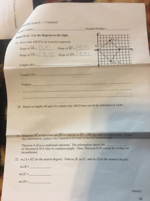 how to find slope of trapezoid