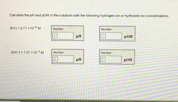Chemistry Archive March 21 2017 – Ph and Poh Calculations Worksheet