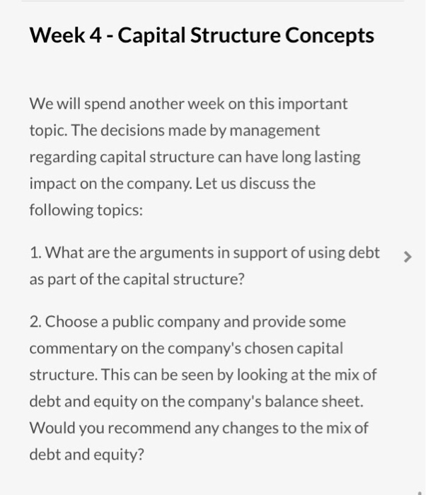 concept of capital structure Capital structure concepts introduction- free online tutorials for capital structure concepts introduction courses with reference manuals and examples.
