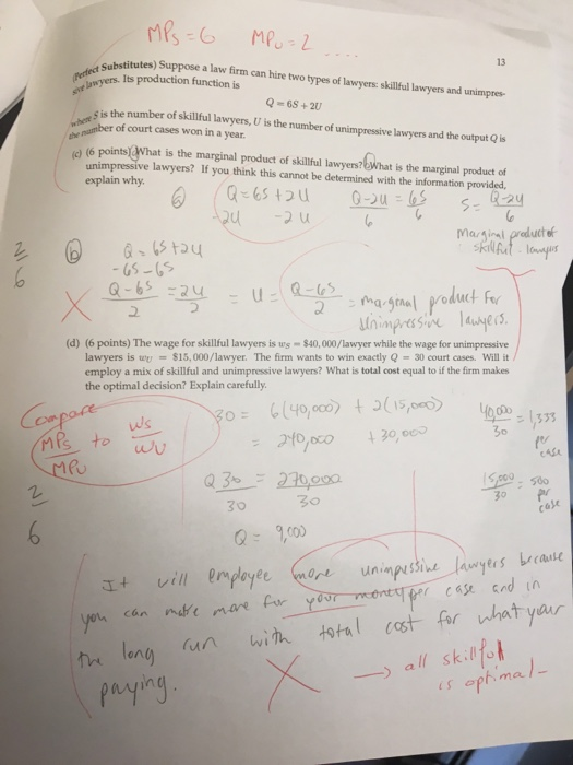 Question: Problem 3 a to dtrying to fix a test to study from. Sorry about markings