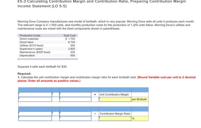 Solved E Calculating Contribution Margin And Contribut