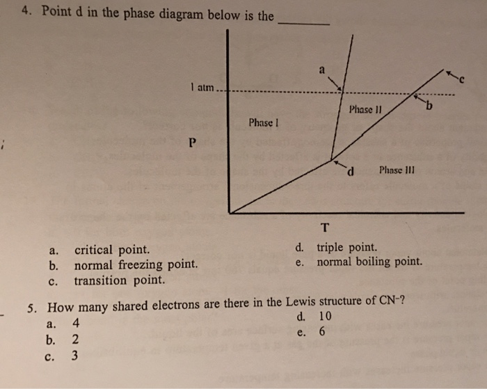 Solved Point D In The Phase Diagram Below Is The Chegg