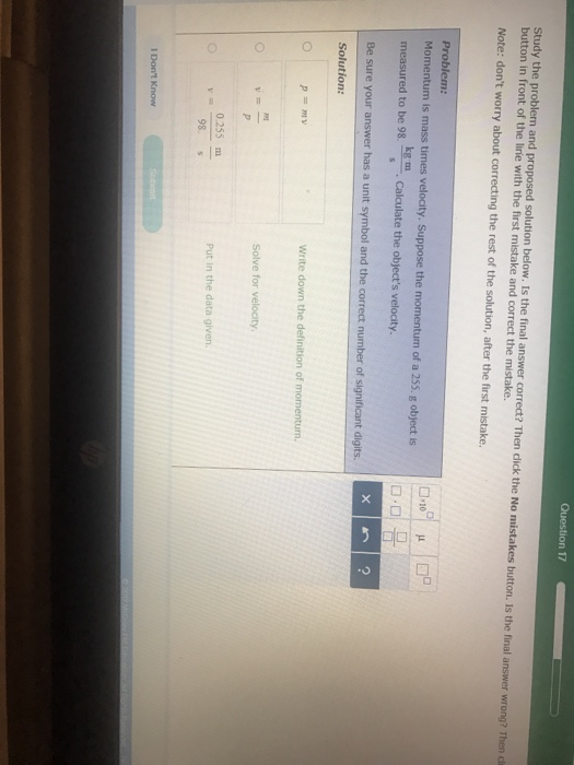 Solved Question 17 Study The Problem And Proposed Solutio