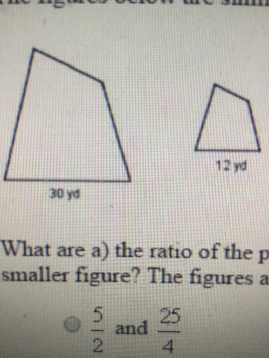 What Are A) The Ratio Of The Perimeters And B) The ...