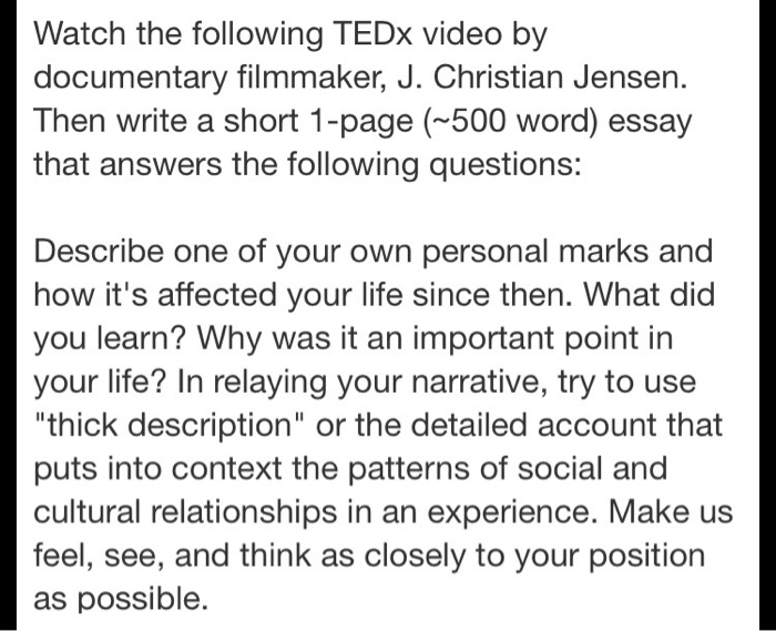 psychology archive com watch the following tedx video by documentary filmmaker j christian jensen then write