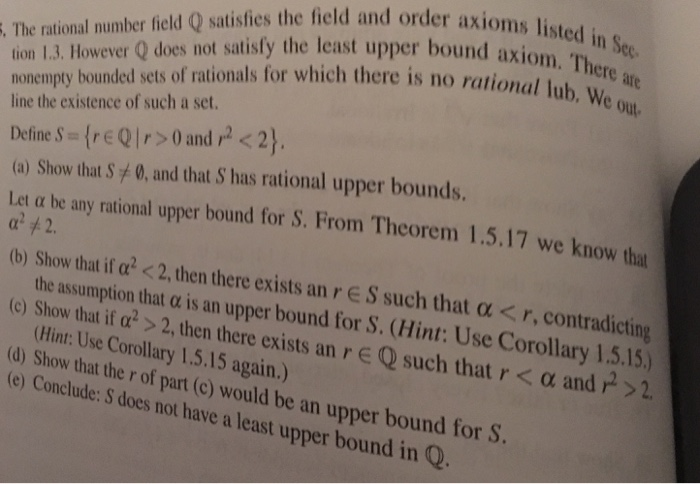 Solved The Rational Number Field Q Satisfies The Field An