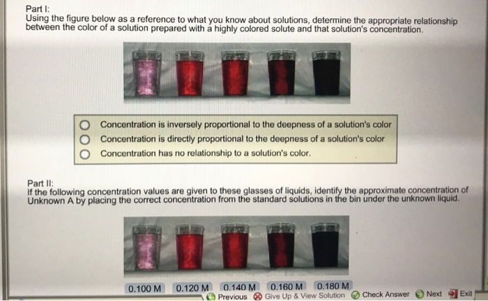 Part I: Using the figure below as a reference to what you know about  solutions