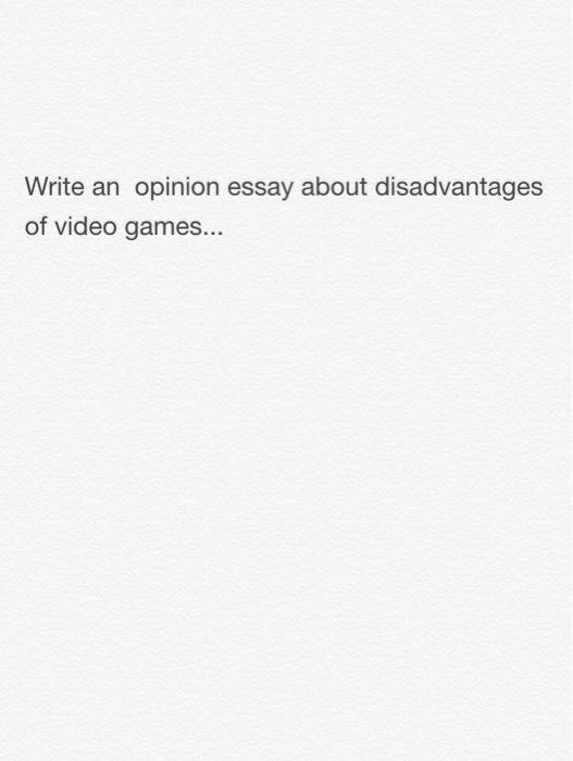 opinion essay about computers Handout: how to write an opinion essay the basic five-paragraph essay structure, which you have probably used many times by this point.