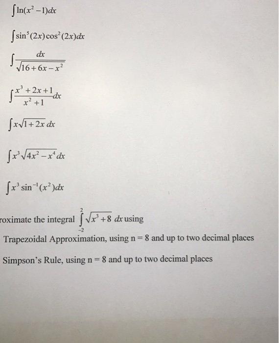 1)dx Integral Sin^5 (2x) Cos^2