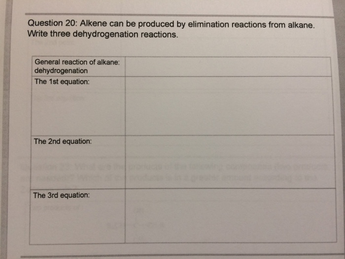 how to get from alkane to alkene