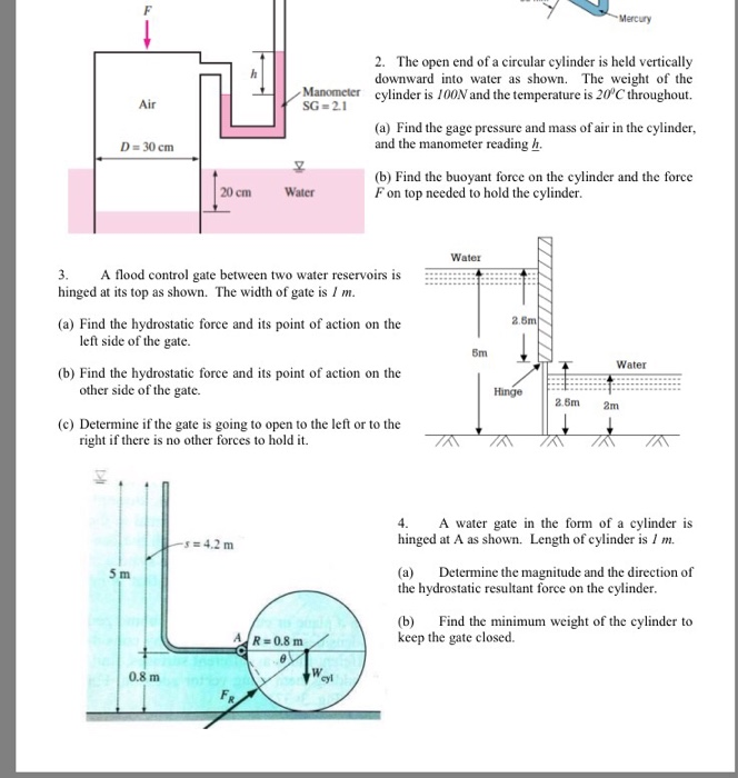 how to find return cylinder force