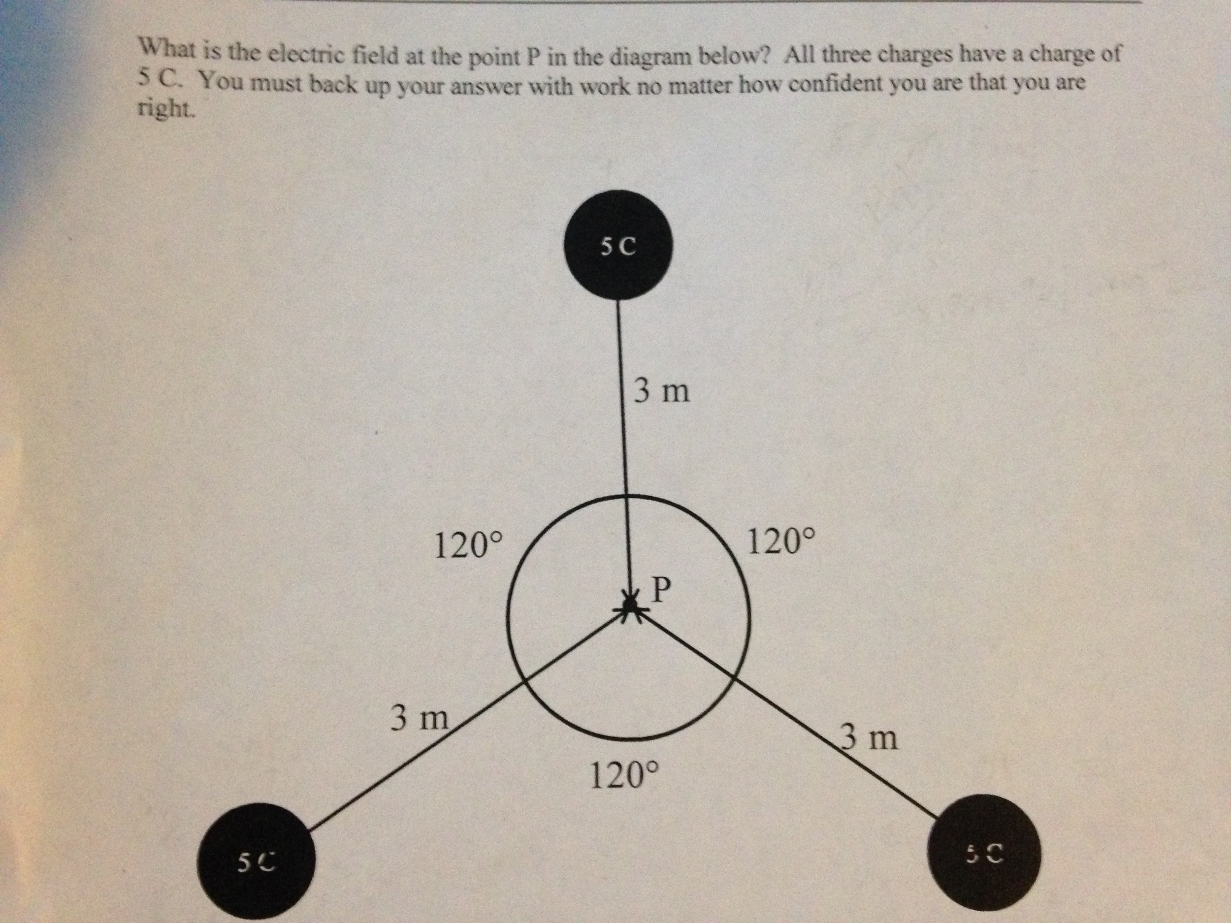 what is the electric field at the point p in the