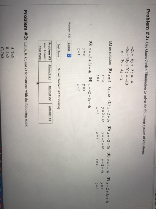 Statistics and probability archive november 22 2017 chegg 0 answers problem 2 use gauss jordan elimination to solve the following system of equations fandeluxe Choice Image