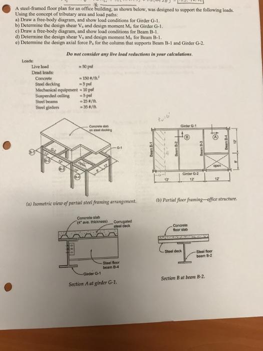 Solved: A Steel-framed Floor Plan For An Office Building ...