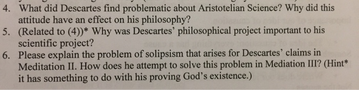 descartes attempt to outline his philosophical views in meditations