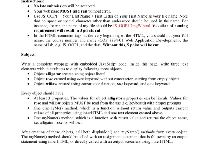 Computer science archive april 02 2017 chegg instructions instructions no late submission will be accepted your web page must and run fandeluxe Choice Image