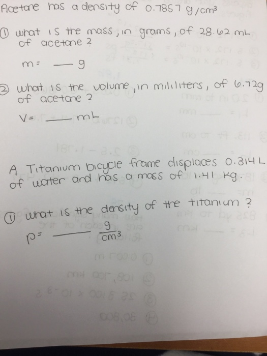 how to find density in g l