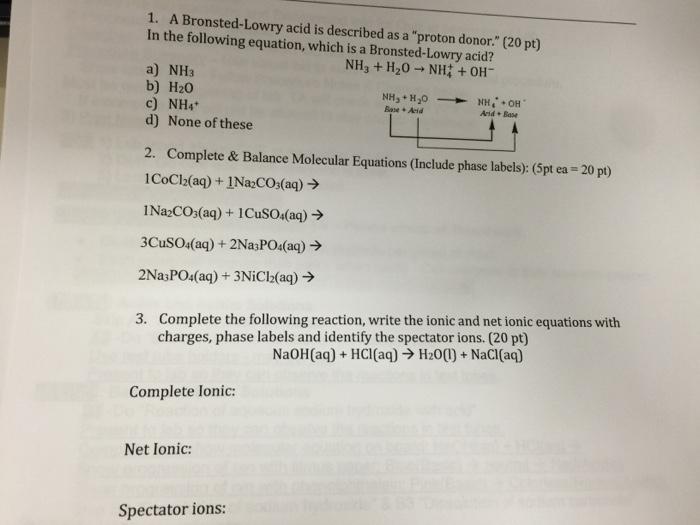 Acids and bases homework help