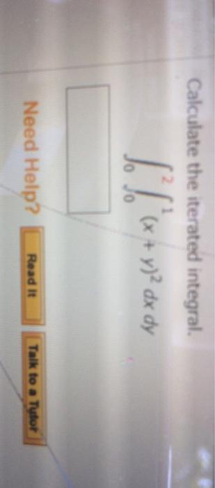 Iterated Integral Calculator