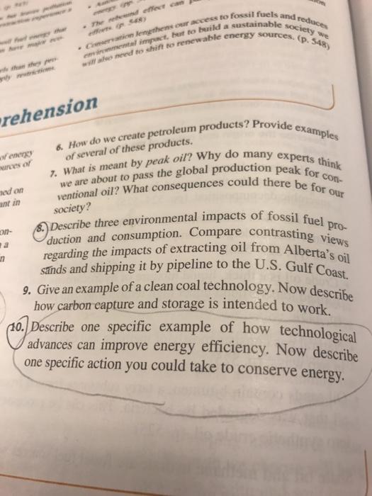 Homework help fossil fuels