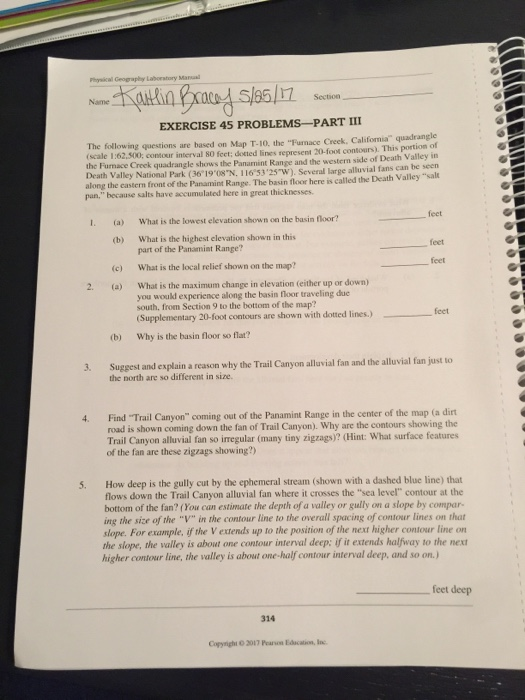 Solved Geography Laboratory Manual Exercise 45 Problems P