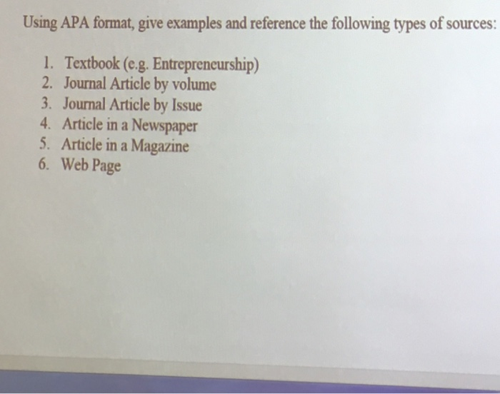 journal reference apa format Every source used in any type of academic or professional writing needs to be correctly cited scientific journals are no exception following the american psychological association (apa) format, scientific journals can.