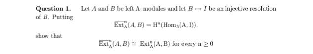 Homological algebra homework solutions