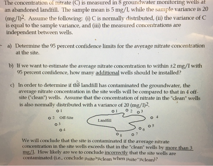 The Concentration Of Nitrate (C) Is Measured In 8   | Chegg.Com