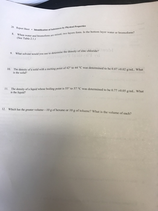 pre lab report density of liquids and solids essay [lab report operation unit] experiment 1(b) measuring specific gravity of a liquid by using hydrometer method  density of water lab conclusion density is a measure .