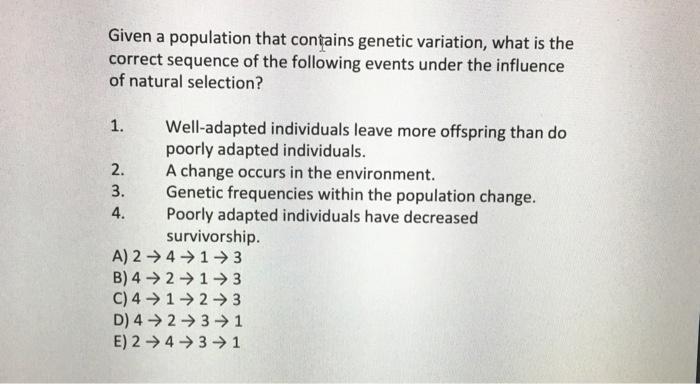 4 mechanisms of evolution