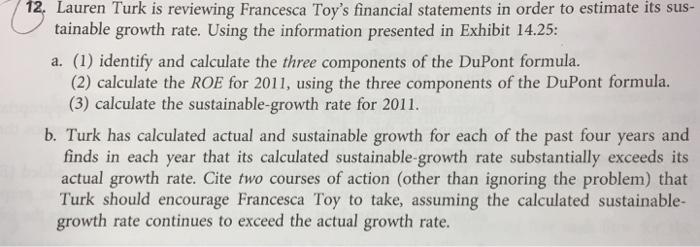 Lauren Turk Is Reviewing Francesca Toy's Financial ...