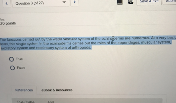 Biology archive january 31 2018 chegg save exit subm question 3 of 27 lue 70 points the functions carried fandeluxe Image collections