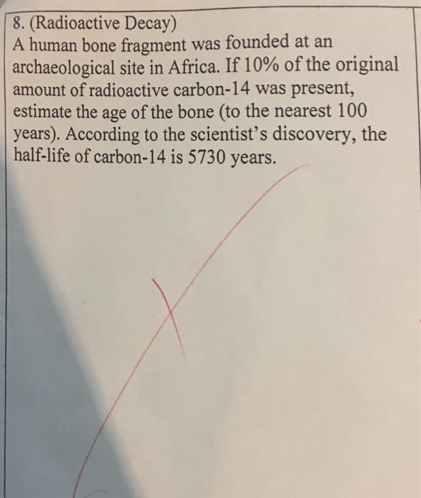 how to find original amount half life