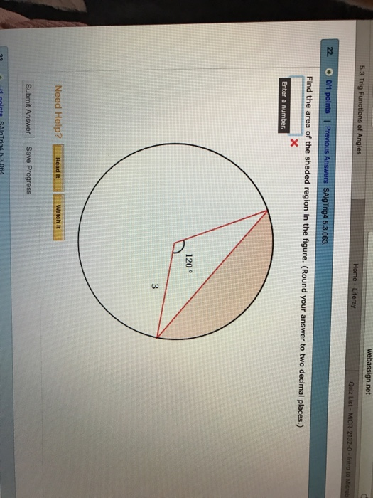 how to find the shaded area of a circle
